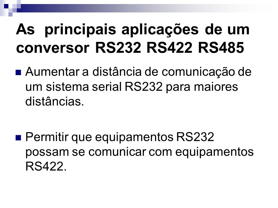 As principais aplicações de um conversor RS232 RS422 RS485