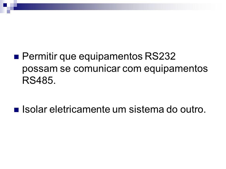 Permitir que equipamentos RS232 possam se comunicar com equipamentos RS485.