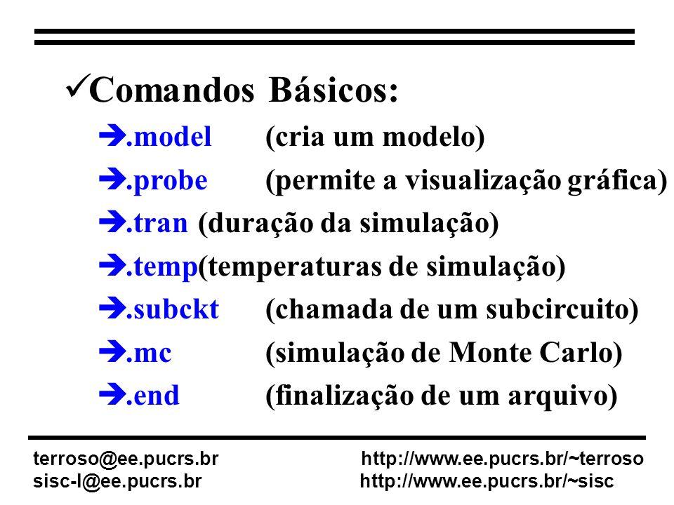 Comandos Básicos: .model (cria um modelo)