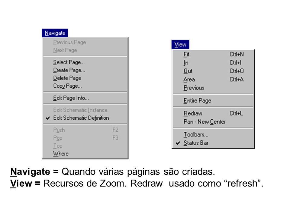 Navigate = Quando várias páginas são criadas.
