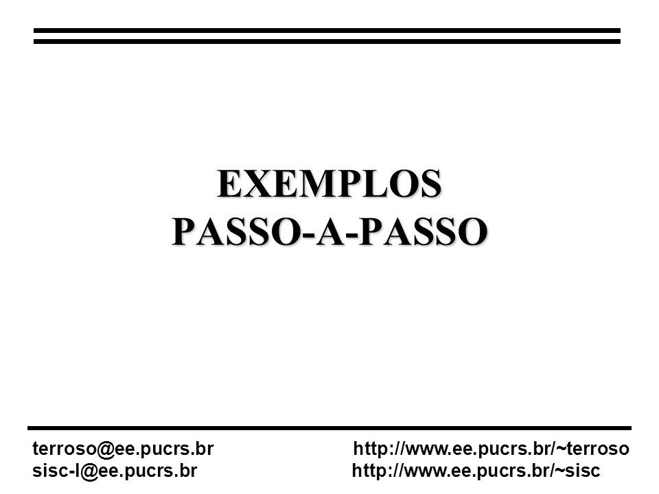 EXEMPLOS PASSO-A-PASSO