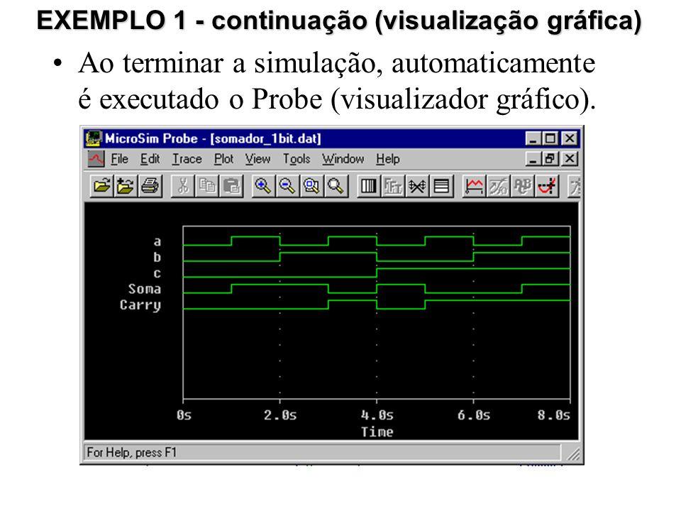 EXEMPLO 1 - continuação (visualização gráfica)