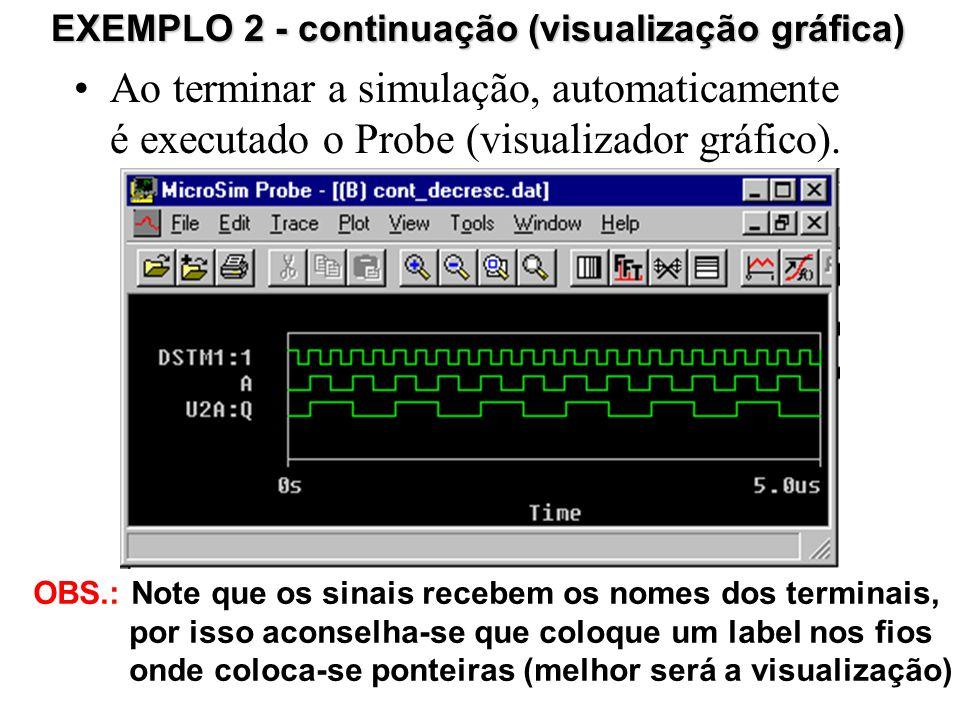 EXEMPLO 2 - continuação (visualização gráfica)