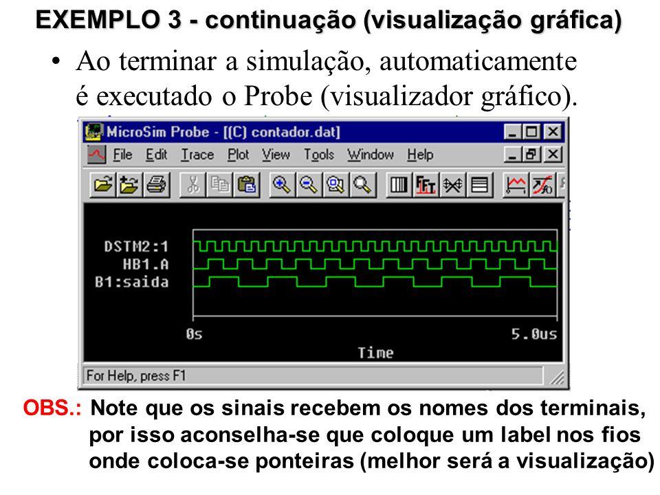 EXEMPLO 3 - continuação (visualização gráfica)