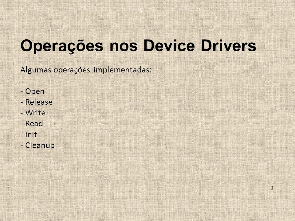 Operações nos Device Drivers