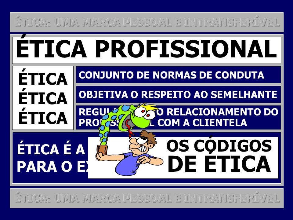 ÉTICA PROFISSIONAL DE ÉTICA ÉTICA OS CÓDIGOS
