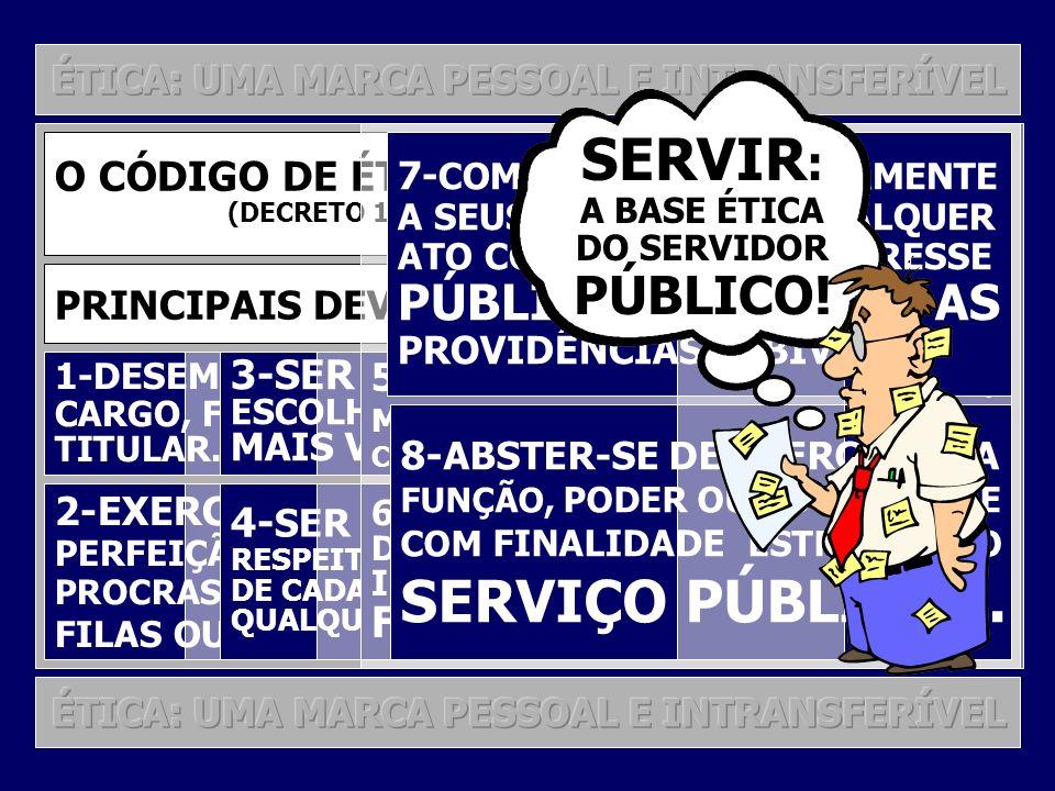 SERVIR: SERVIÇO PÚBLICO... PÚBLICO! PÚBLICO, EXIGINDO AS