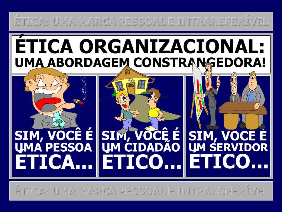 ÉTICA... ÉTICO... ÉTICO... ÉTICA ORGANIZACIONAL: