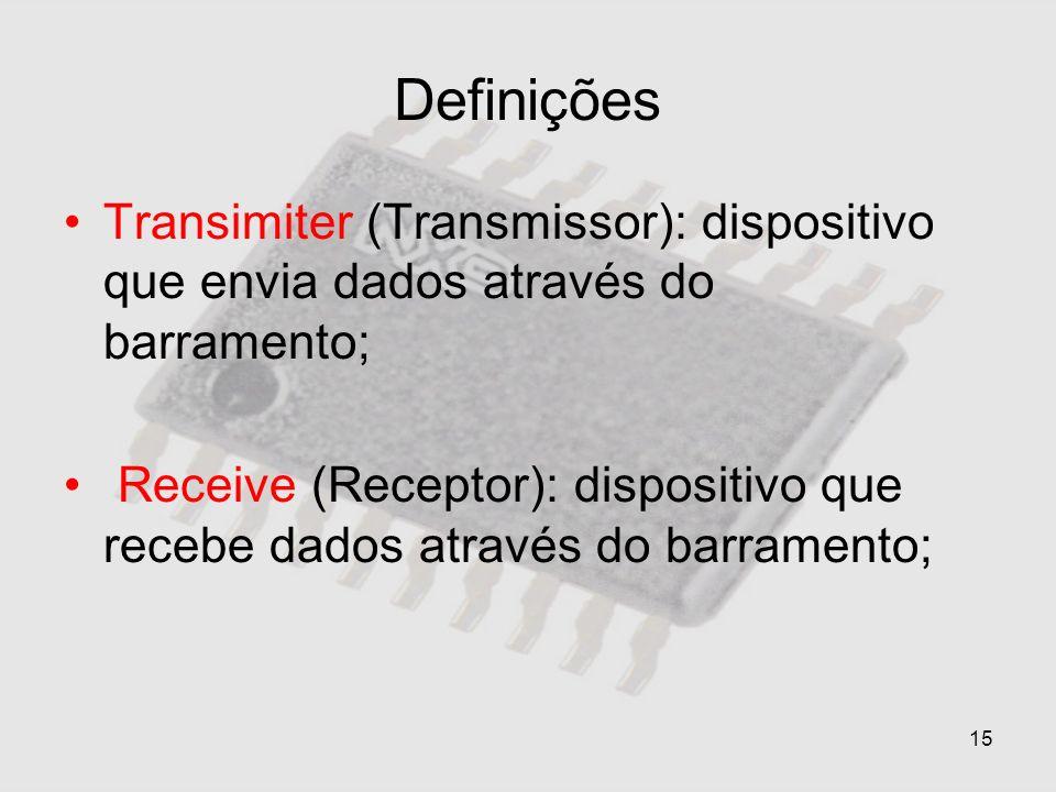DefiniçõesTransimiter (Transmissor): dispositivo que envia dados através do barramento;