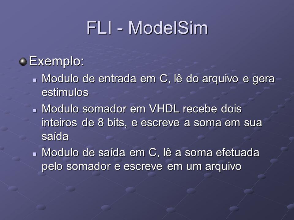 FLI - ModelSim Exemplo: