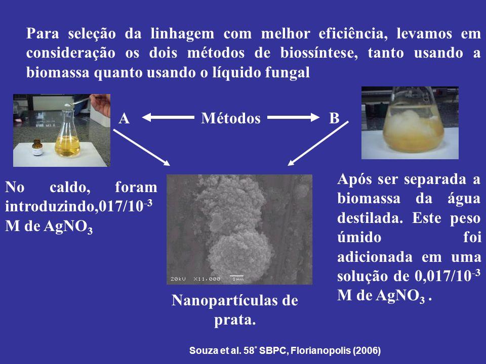 Nanopartículas de prata.