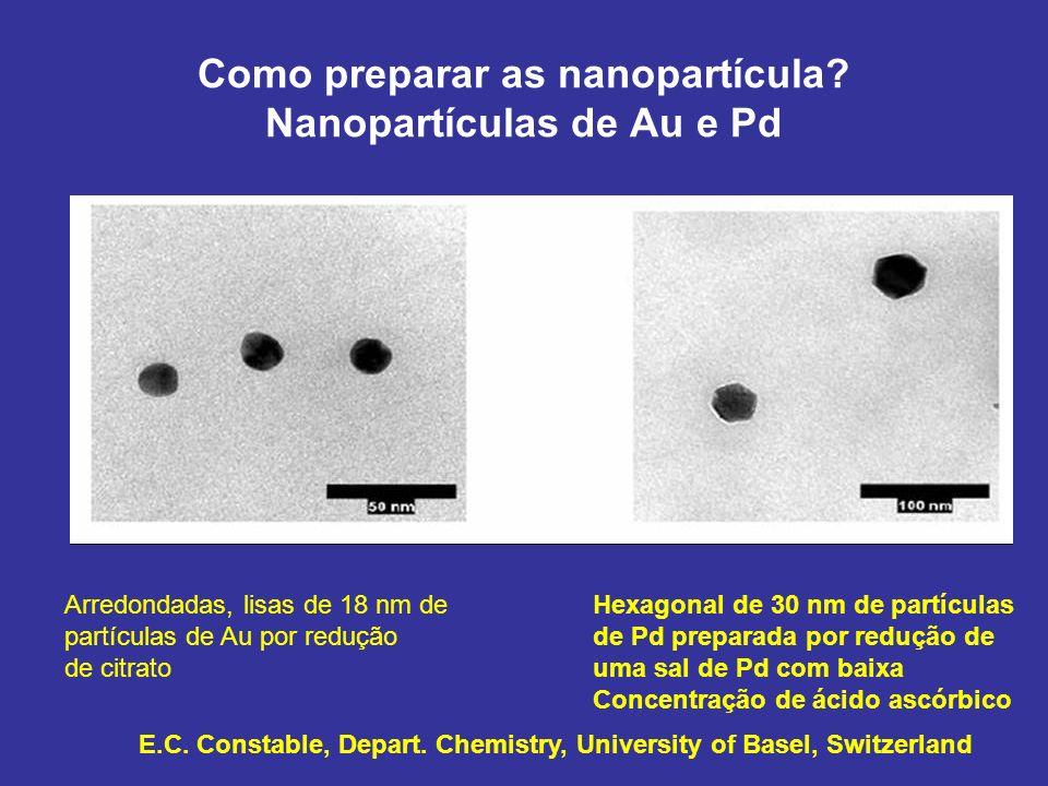 Como preparar as nanopartícula Nanopartículas de Au e Pd