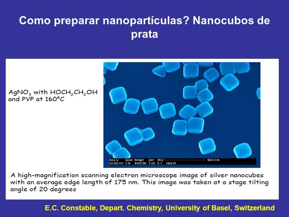 Como preparar nanopartículas Nanocubos de prata