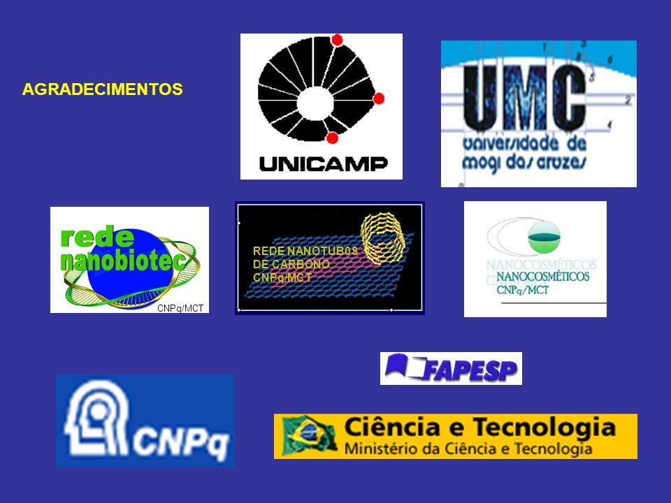 AGRADECIMENTOS REDE NANOTUB0S DE CARBONO CNPq/MCT CNPq/MCT