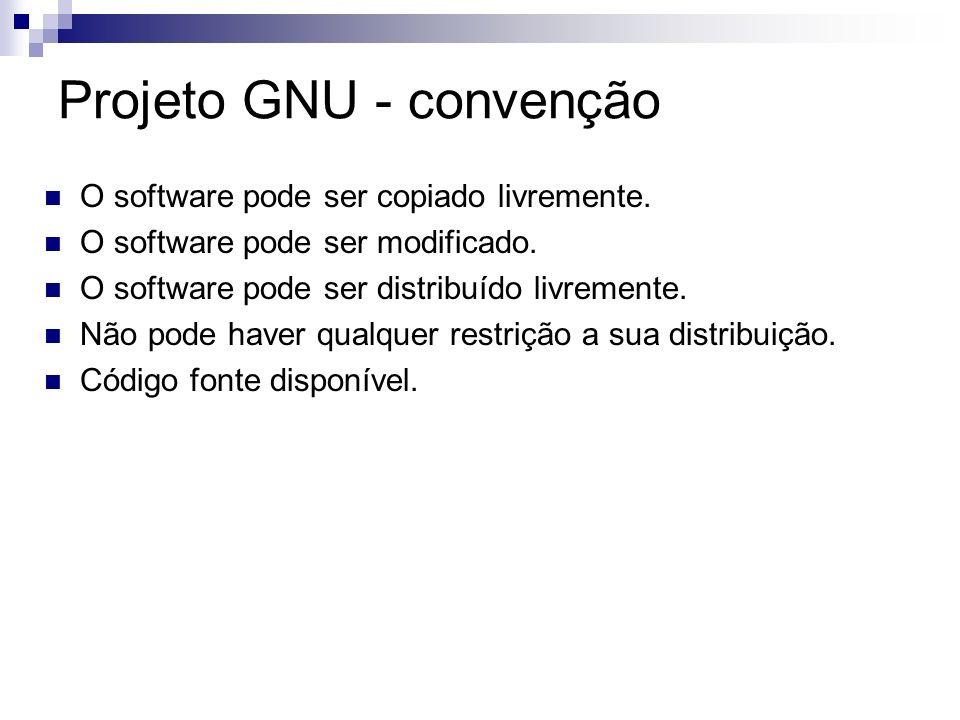 Projeto GNU - convenção