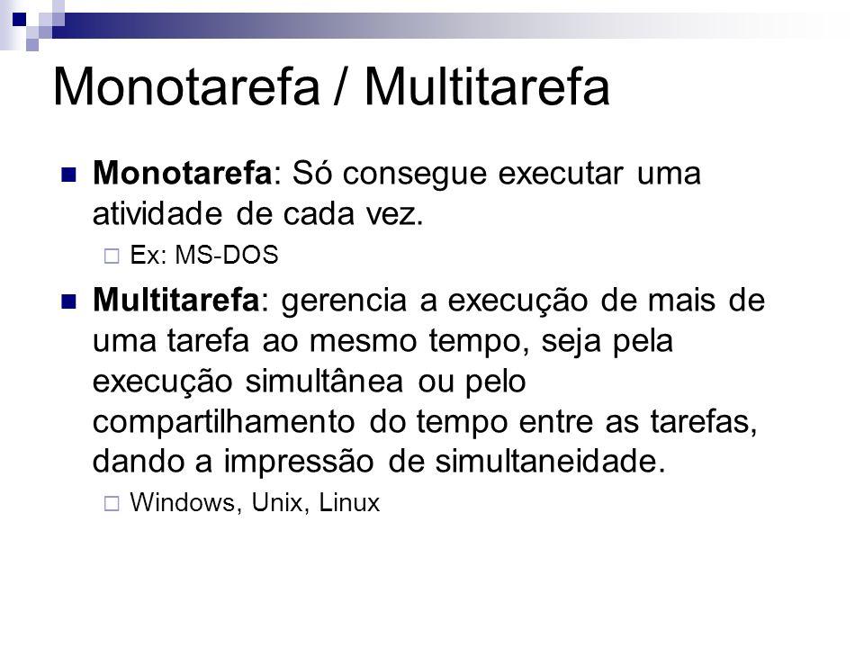 Monotarefa / Multitarefa