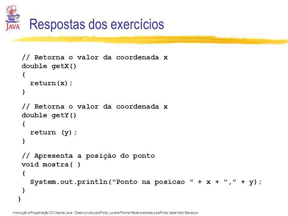 Respostas dos exercícios