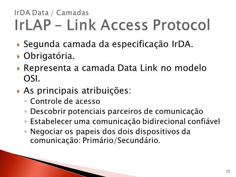 IrDA Data / Camadas IrLAP – Link Access Protocol