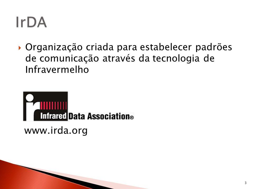 IrDA Organização criada para estabelecer padrões de comunicação através da tecnologia de Infravermelho.
