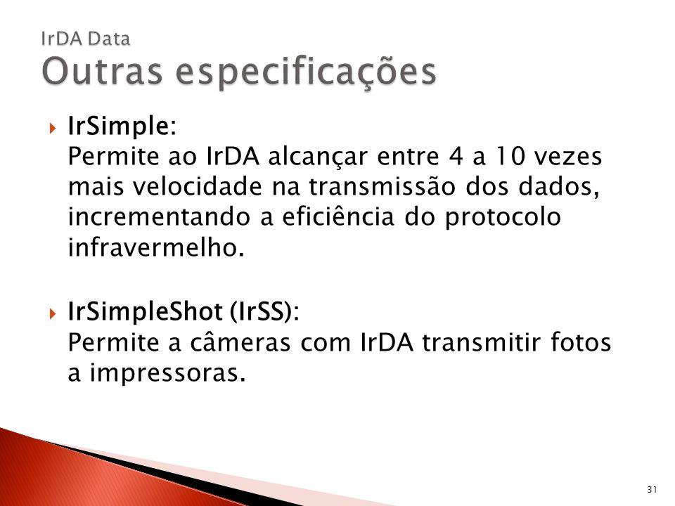 IrDA Data Outras especificações