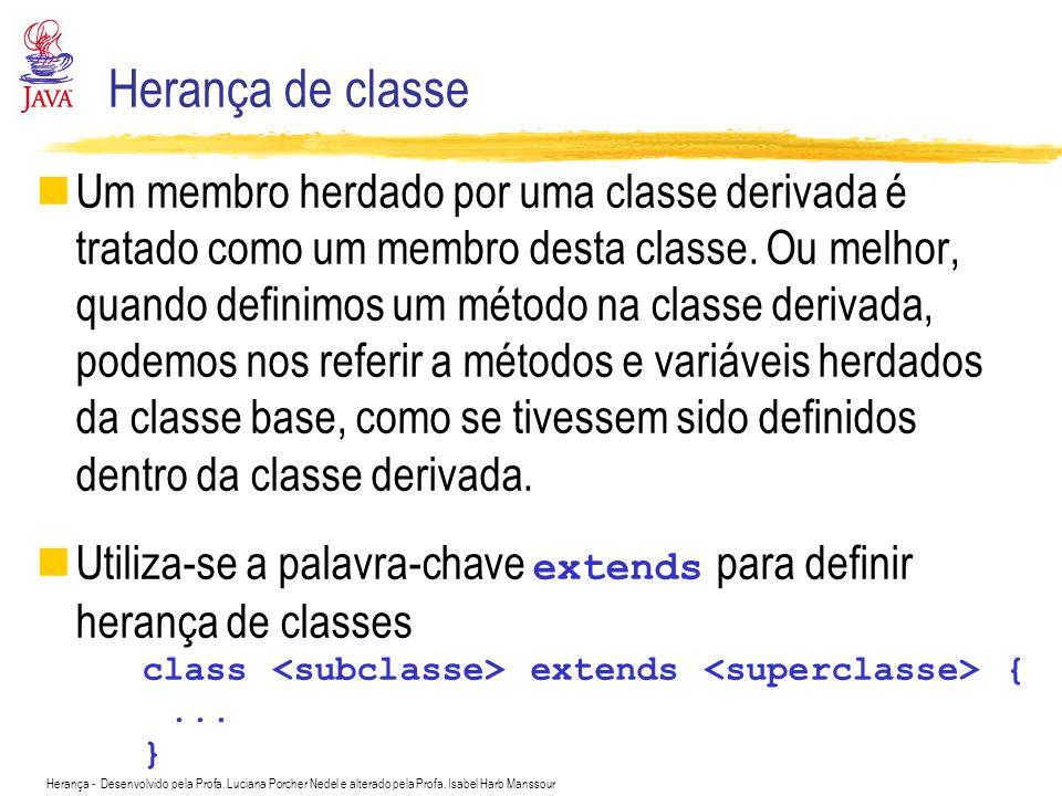 Herança de classe