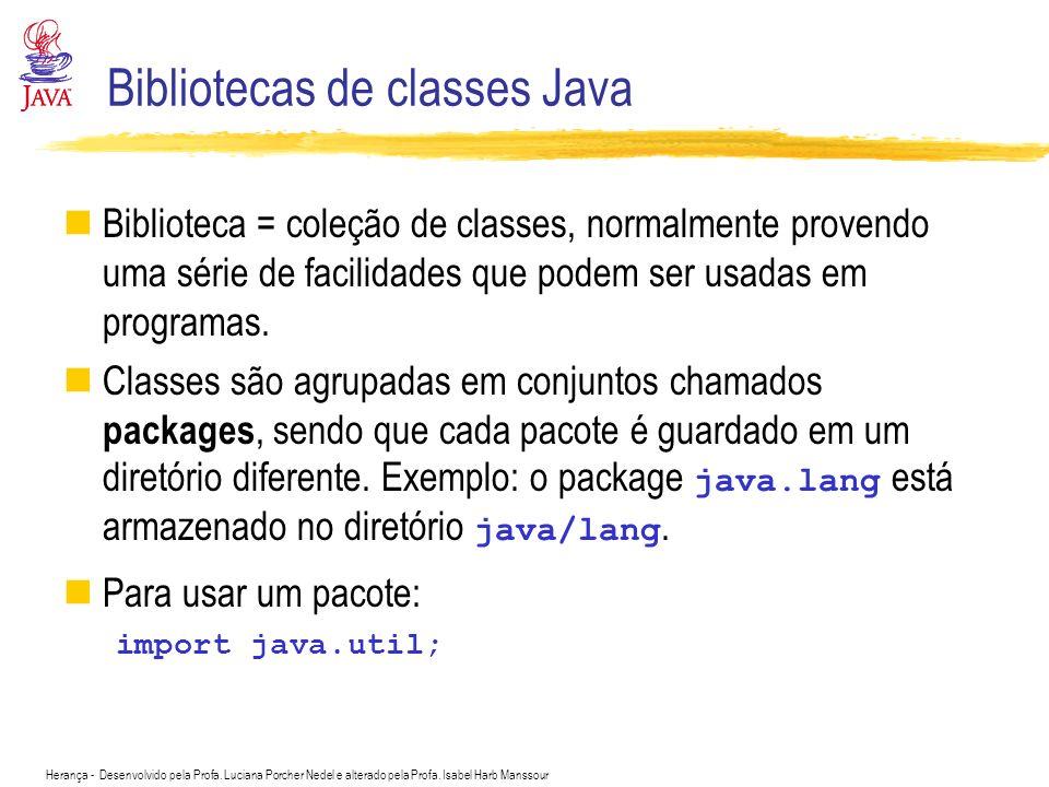 Bibliotecas de classes Java