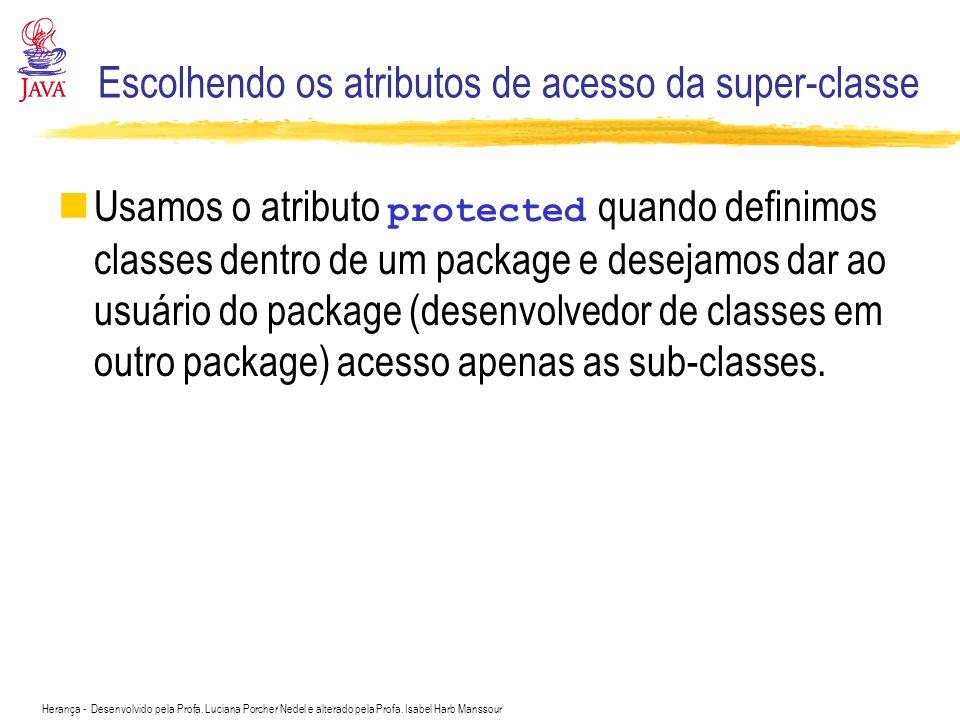 Escolhendo os atributos de acesso da super-classe