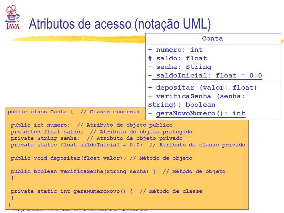 Atributos de acesso (notação UML)