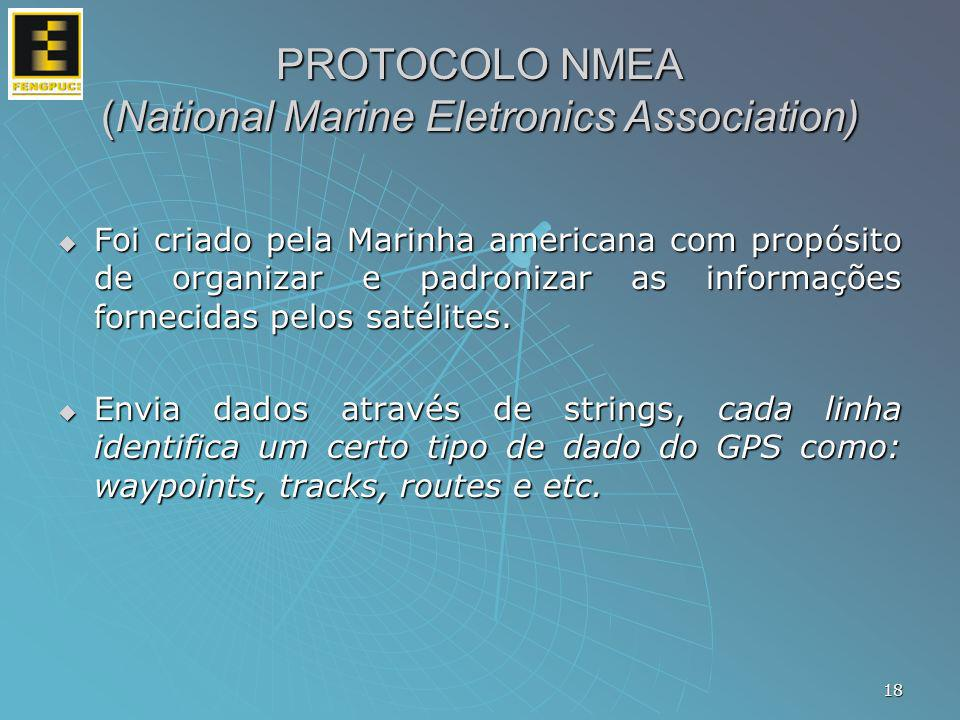 PROTOCOLO NMEA (National Marine Eletronics Association)
