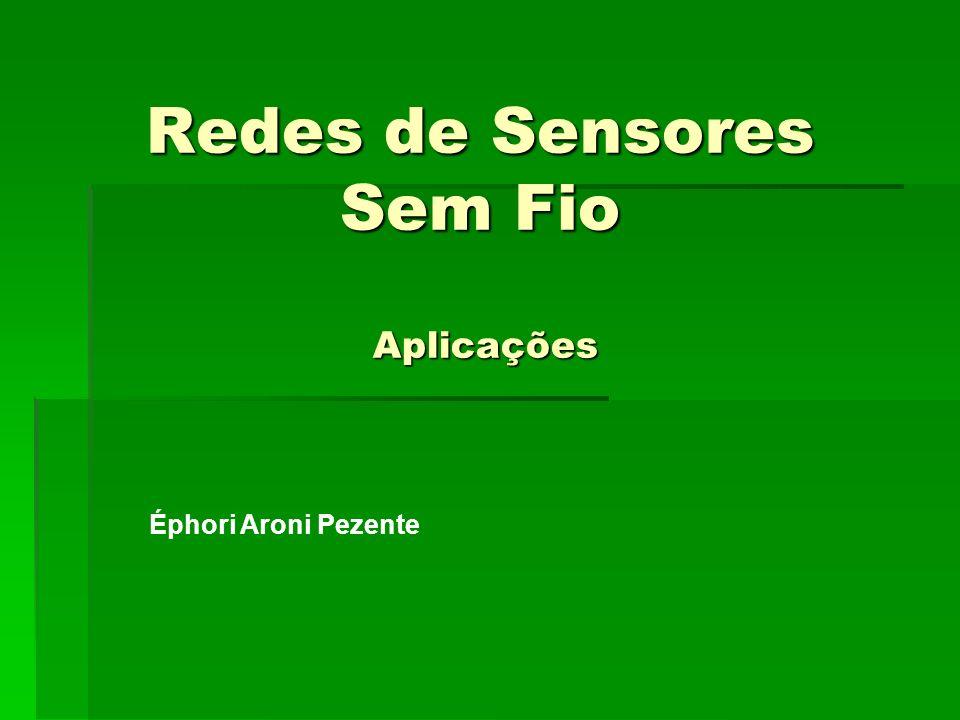 Redes de Sensores Sem Fio Aplicações
