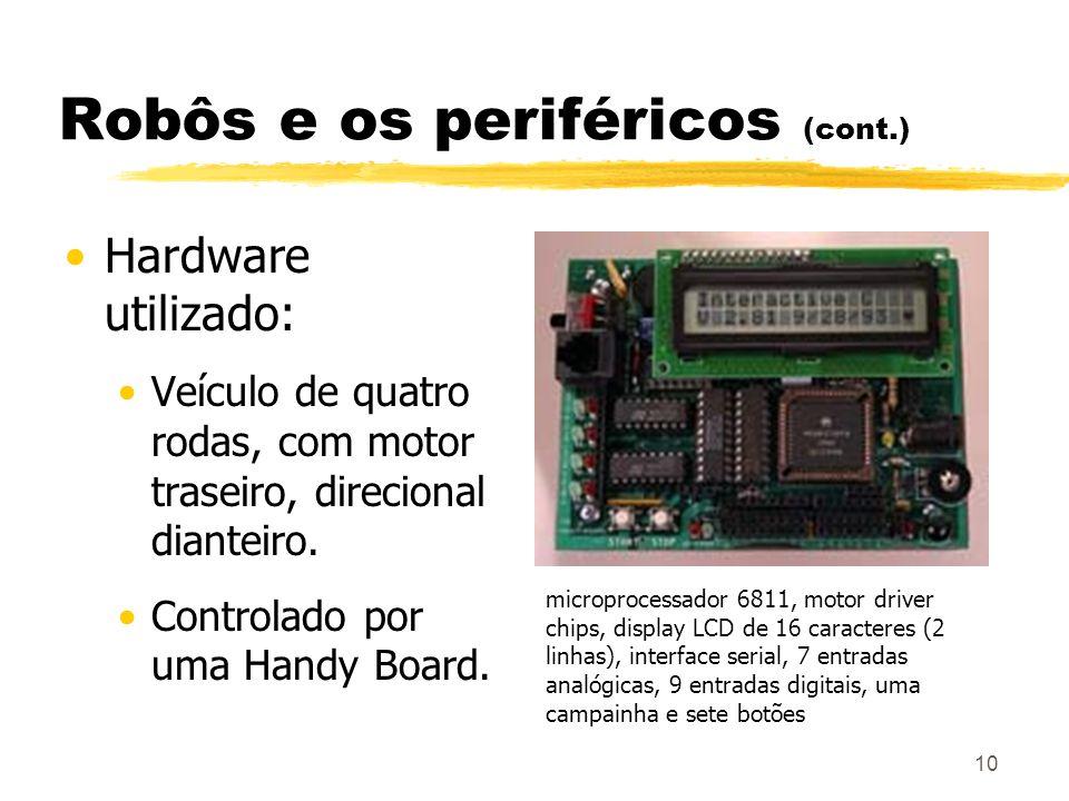 Robôs e os periféricos (cont.)