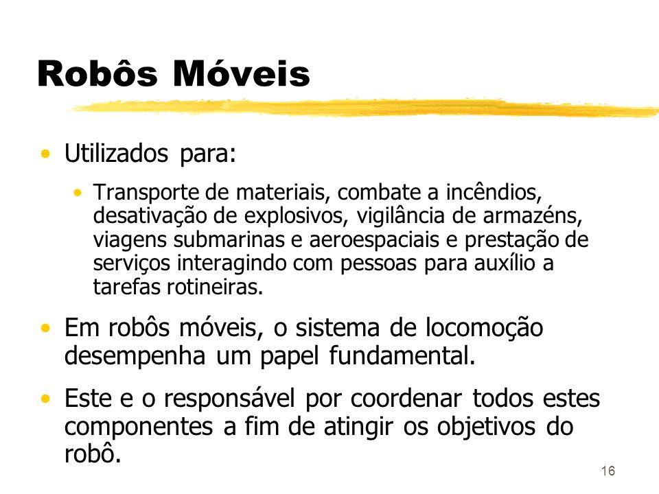 Robôs Móveis Utilizados para: