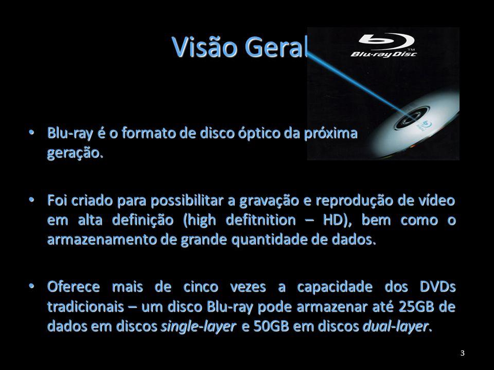 Visão Geral Blu-ray é o formato de disco óptico da próxima geração.