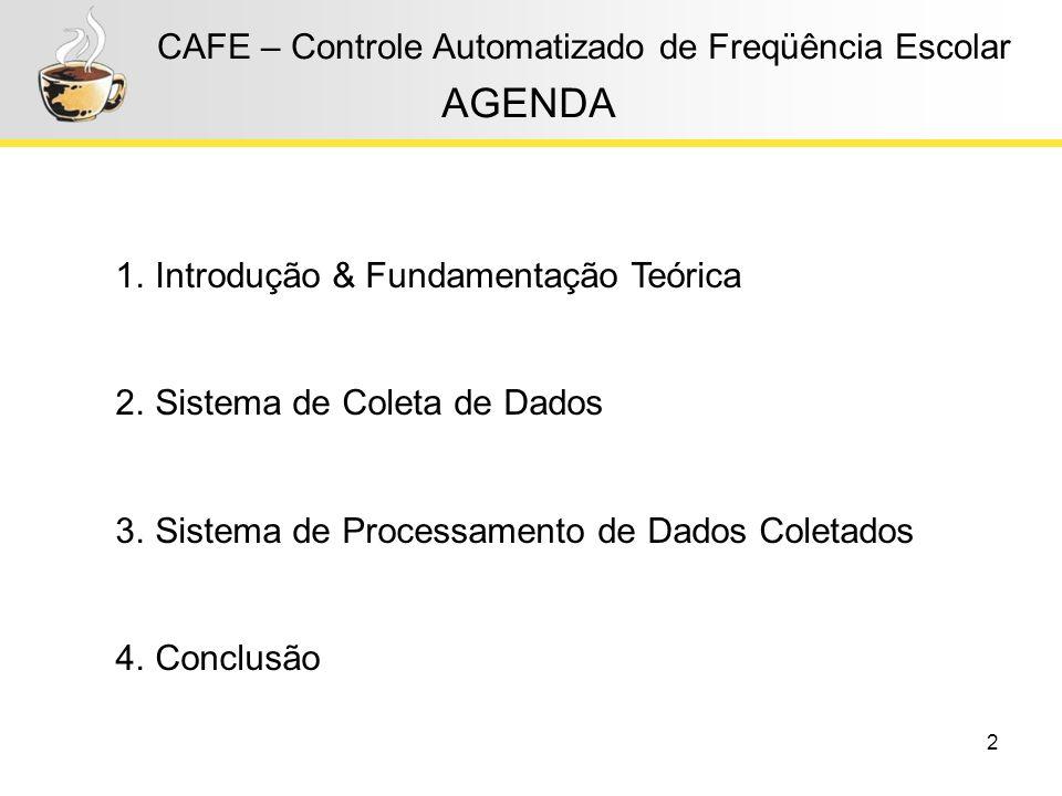 AGENDA CAFE – Controle Automatizado de Freqüência Escolar