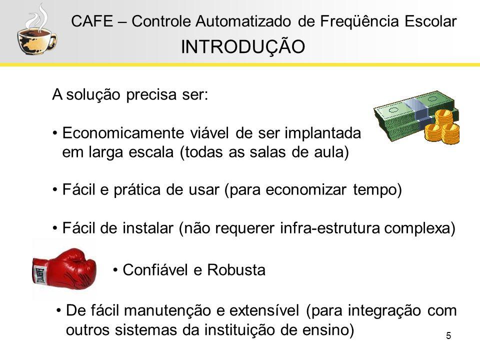 INTRODUÇÃO CAFE – Controle Automatizado de Freqüência Escolar