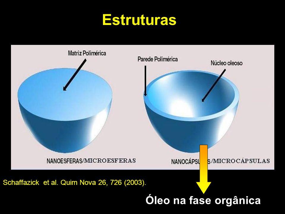 Estruturas Óleo na fase orgânica