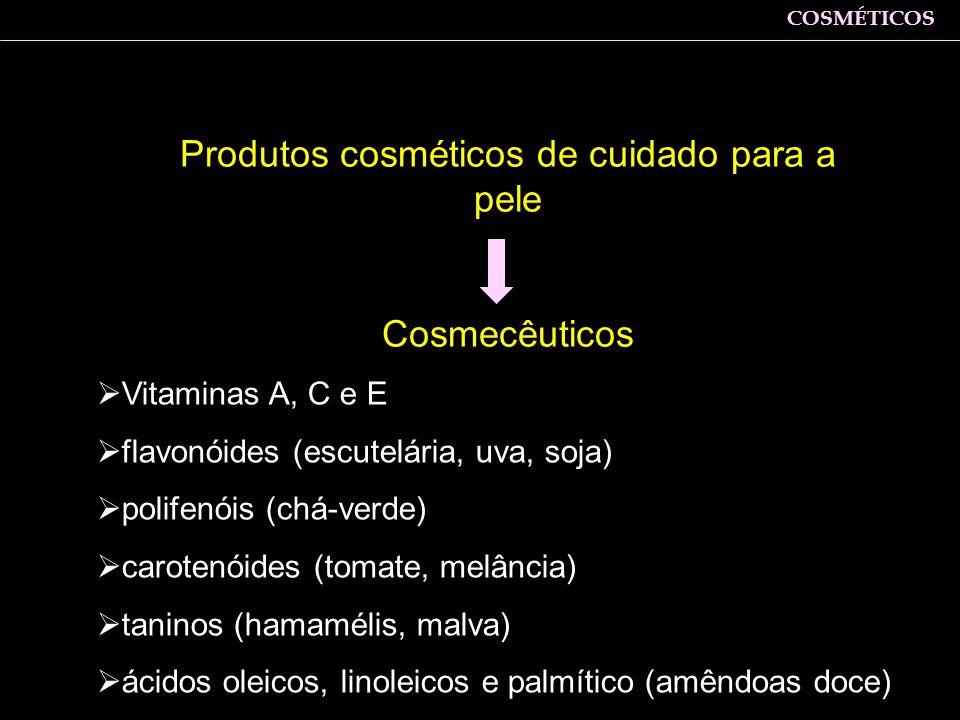 Produtos cosméticos de cuidado para a pele