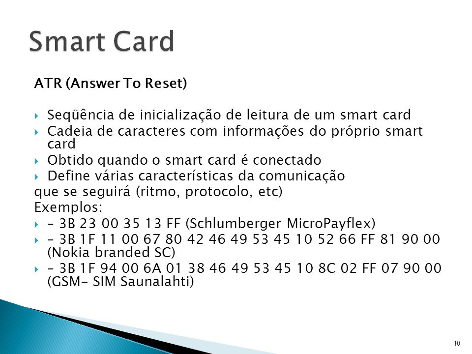Smart Card ATR (Answer To Reset)