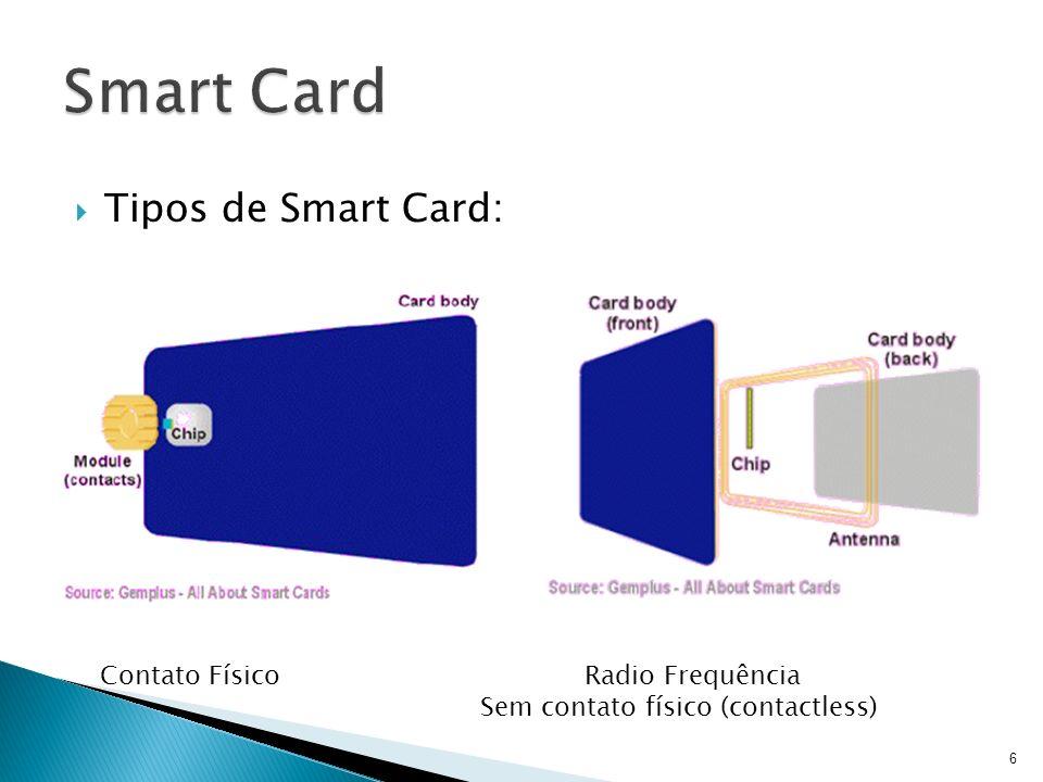 Smart Card Tipos de Smart Card: