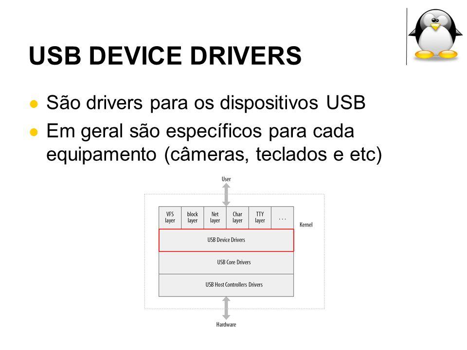 USB DEVICE DRIVERS São drivers para os dispositivos USB