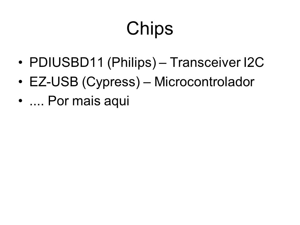 Chips PDIUSBD11 (Philips) – Transceiver I2C