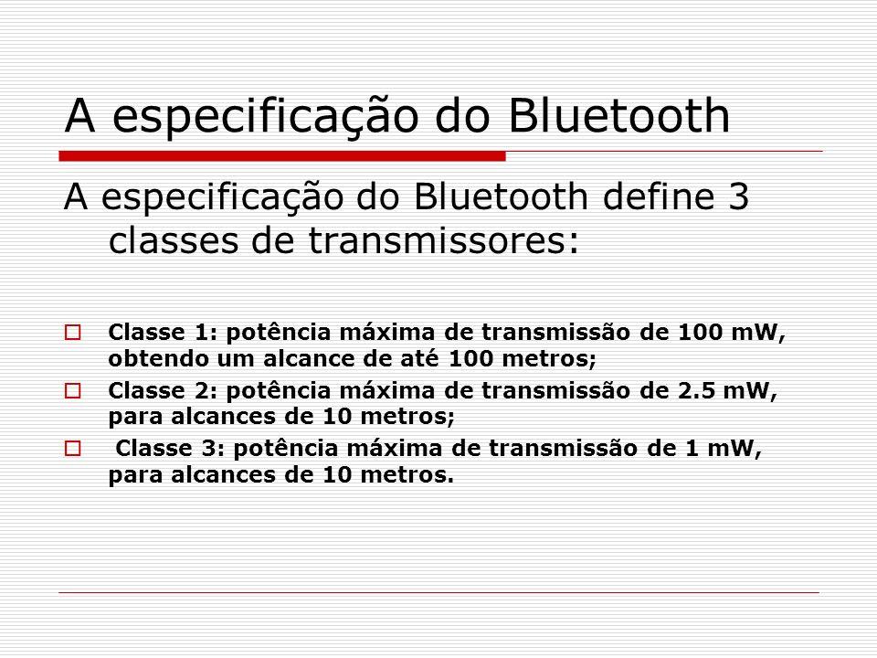 A especificação do Bluetooth