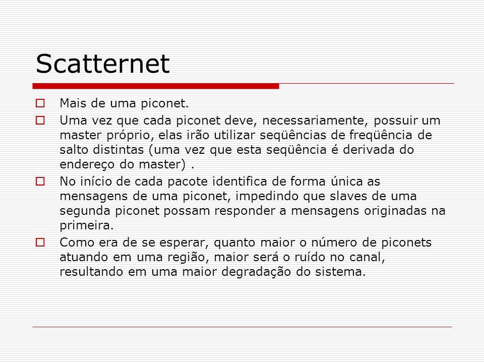 Scatternet Mais de uma piconet.