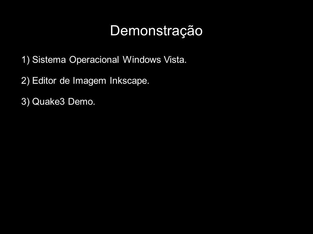 Demonstração 1) Sistema Operacional Windows Vista.