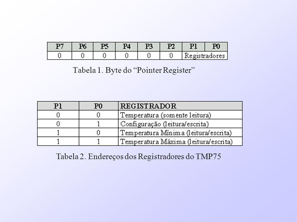Tabela 1. Byte do Pointer Register