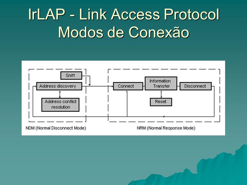 IrLAP - Link Access Protocol Modos de Conexão