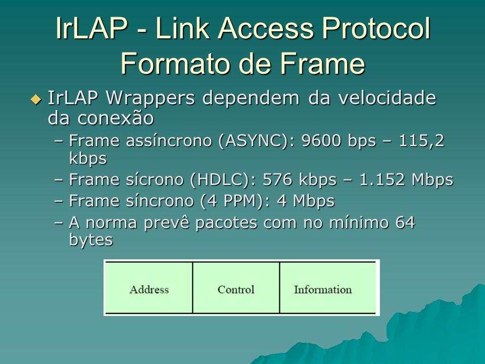 IrLAP - Link Access Protocol Formato de Frame
