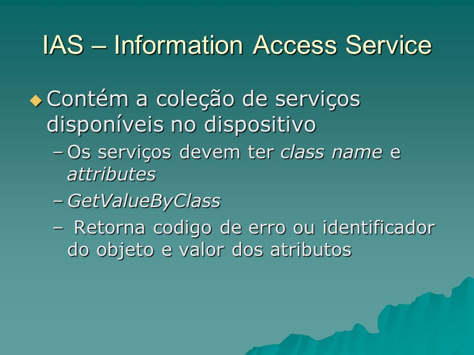 IAS – Information Access Service