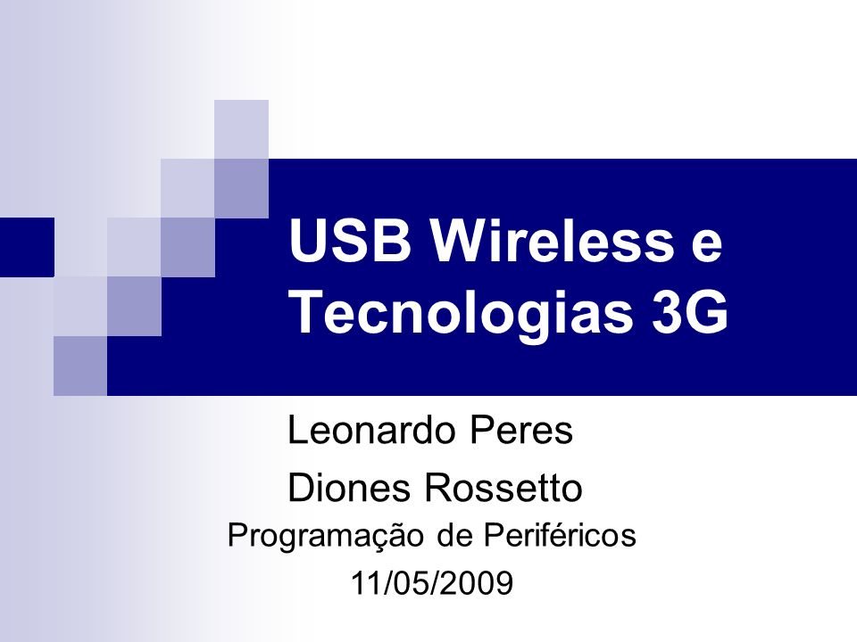 USB Wireless e Tecnologias 3G