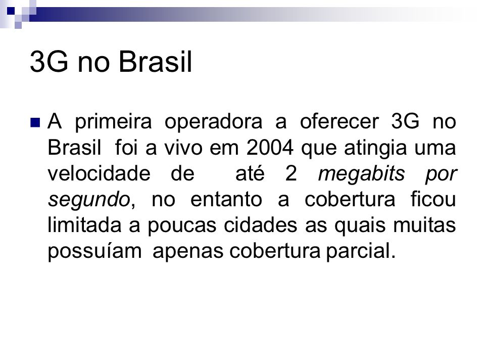 3G no Brasil